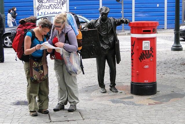 touristes carte
