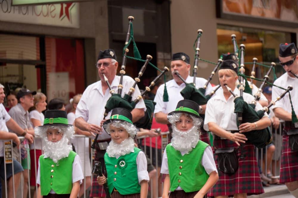 Jour de la Saint Patrick à Brisbane, Australie