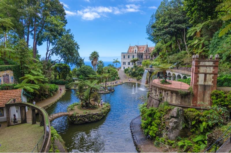 Jardin tropical du Monte Palace à Madère