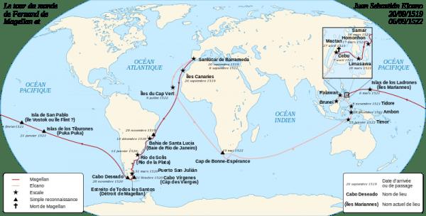 Le premier tour du monde de l'histoire
