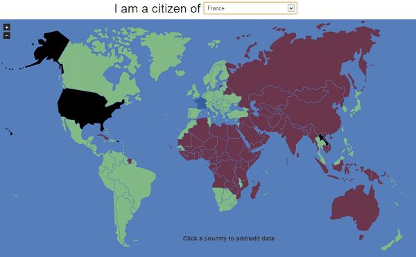 VisaMapper répond à la question «ai-je besoin d'un visa ?»