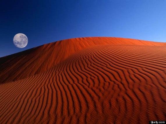 Fond d'écran Désert de Namib avec pleine lune