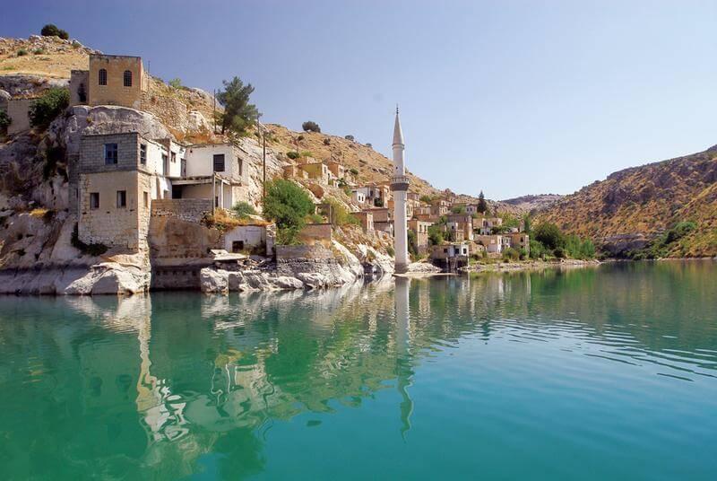 Halfeti Turquie village submergé