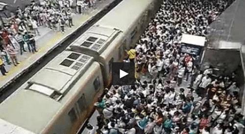 Mouvement de foule dans le métro de Pékin !