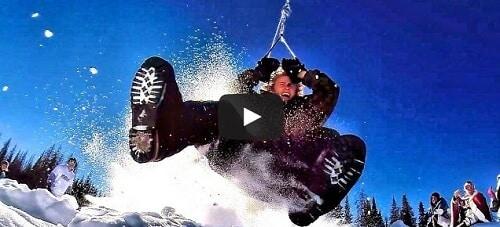 Ils inventent le SnowlerCoaster : un sport de glisse extrême
