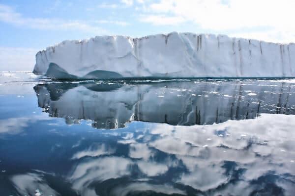 Groenland glacier miroir