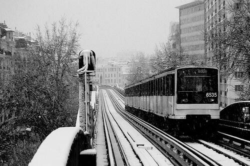 Métro Parisien sous la neige