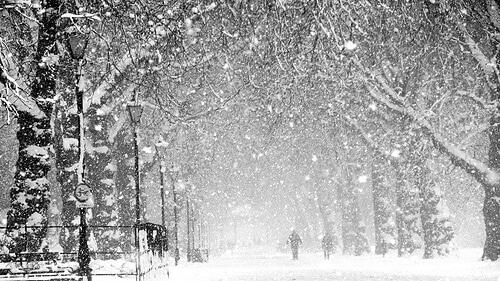 Un autre parc de Londres sous la neige
