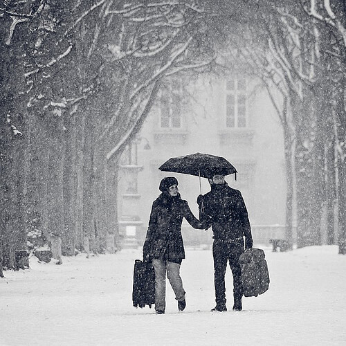 L'Europe est parfois bien plus jolie sous la neige…