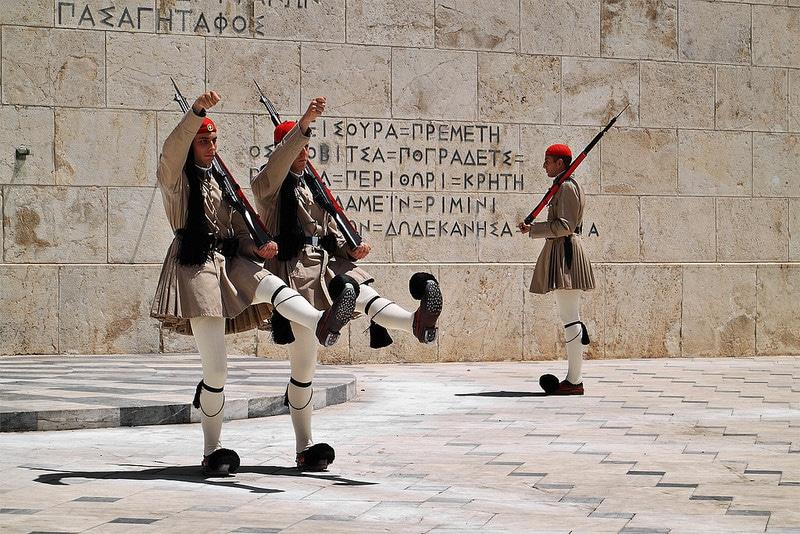 Relève de la garde, Place Syntagma, Athènes