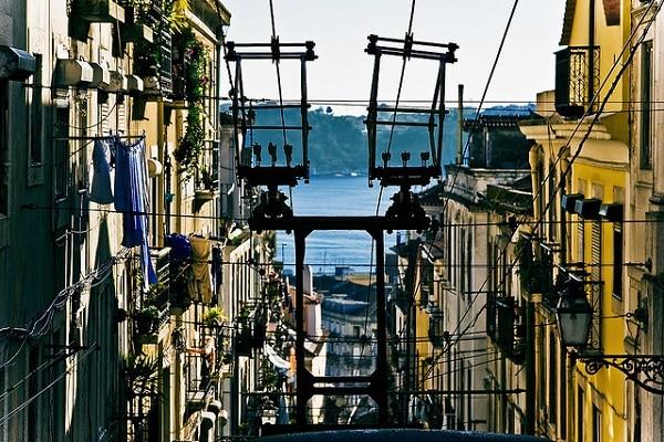 Vue du Tage depuis Bairro Alto, Lisbonne