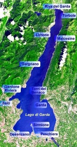 Carte Lac de Garde, Italie