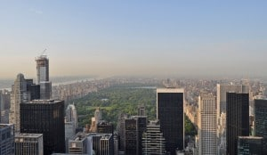 Central Park depuis le Rockfeller New York
