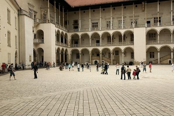 Cour intérieure du Château de Wawel Cracovie