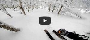 Descente ski poudreuse japon