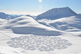 Dessin sur la neige