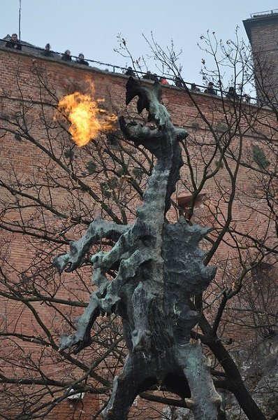 Dragon du Wawel Cracovie