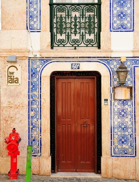 Façade de maison bairro alto Lisbonne