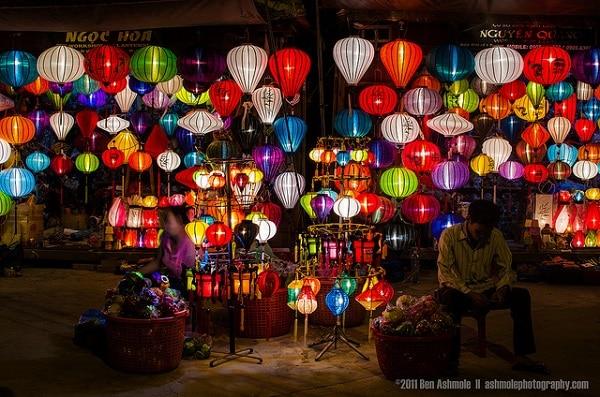 Lanternes Hoi An de nuit