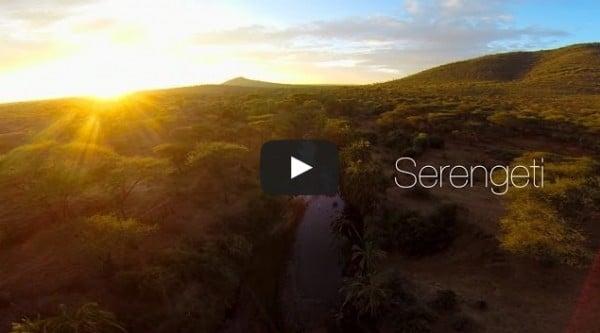 Un drone filme le second parc animalier d'Afrique