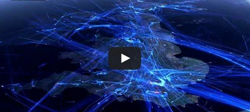 Le trafic aérien européen en 24h