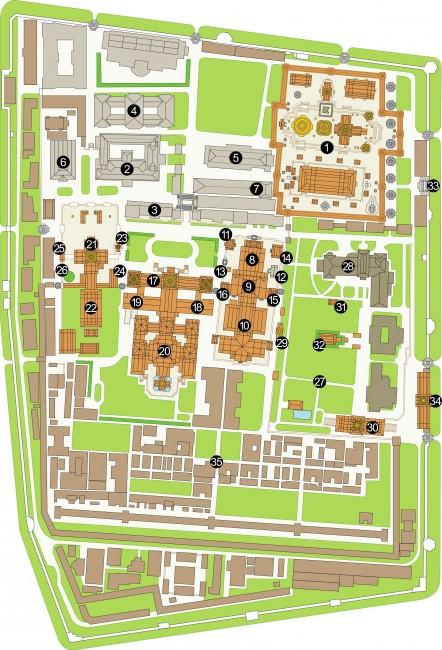 Carte - Plan du Palais Royal Bangkok