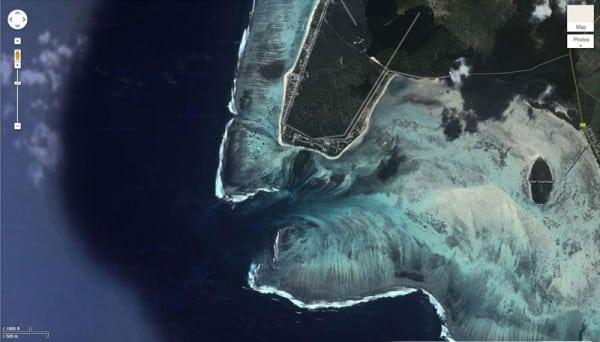 Cascade sous-marine île Maurice