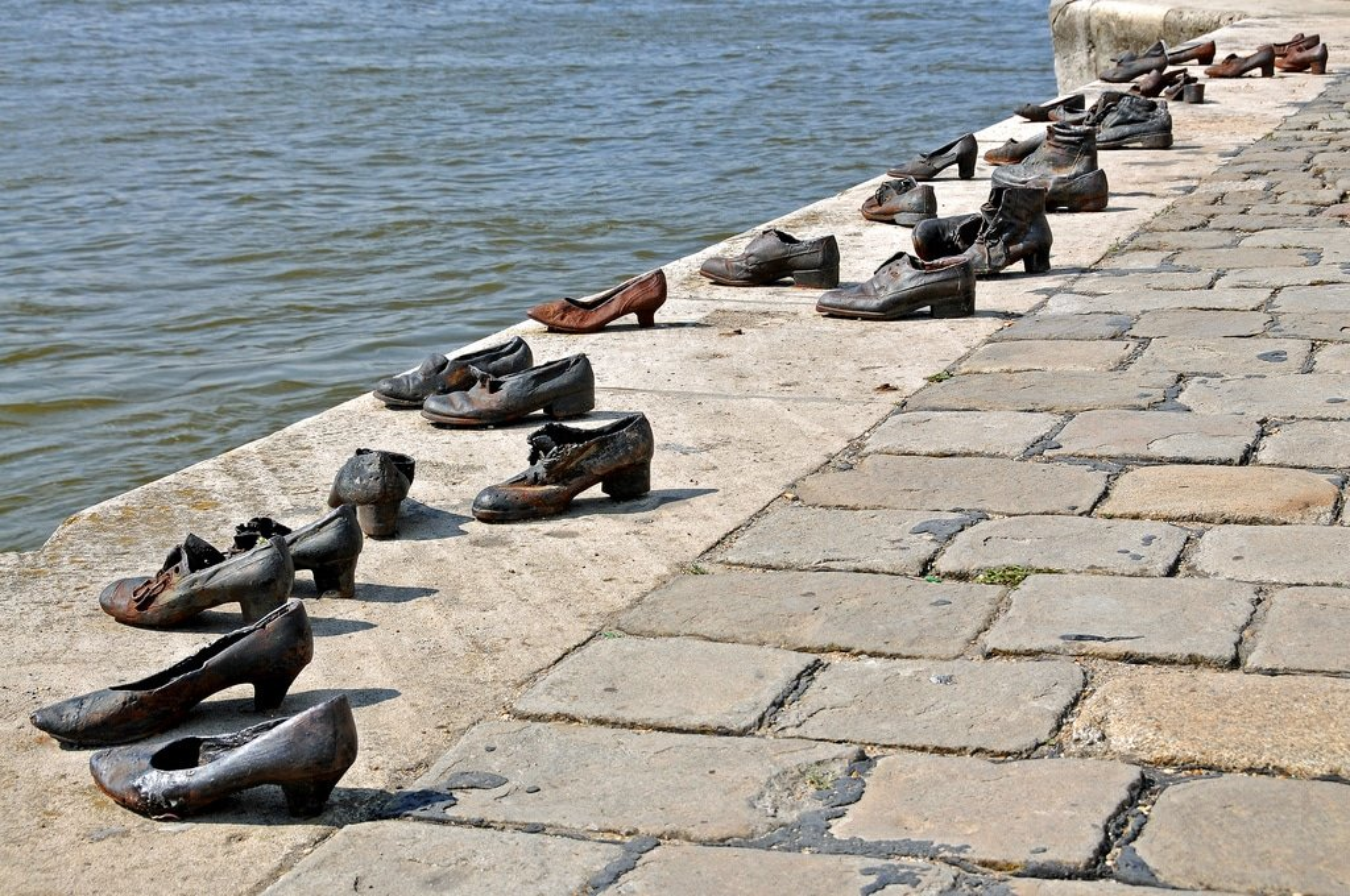 Chaussures au bord du Danube à Budapest