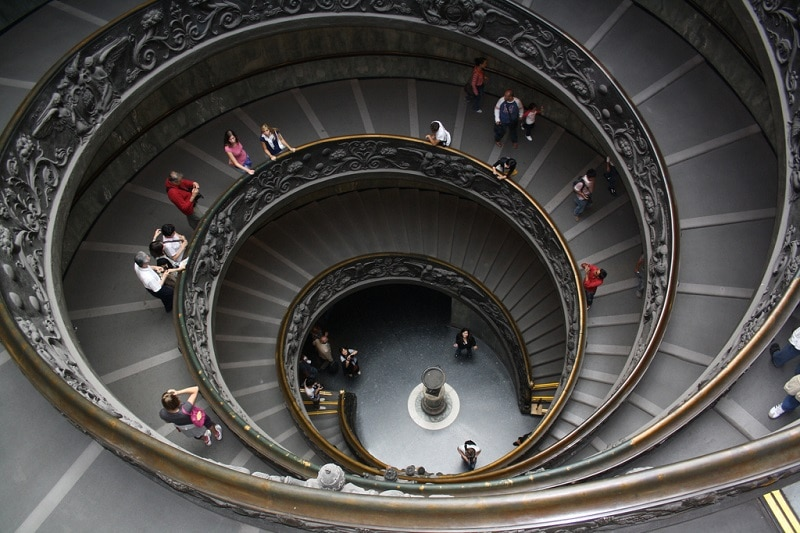 Escaliers en spirale au Vatican