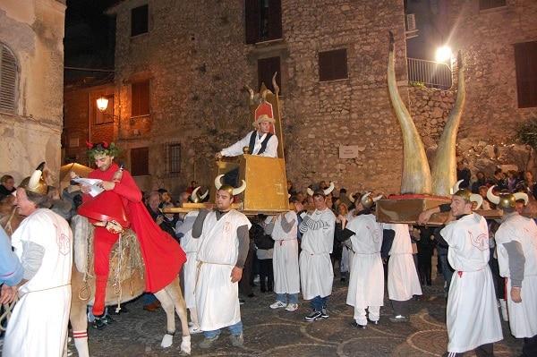Festa del cornuto Rocca Canterano, Italie