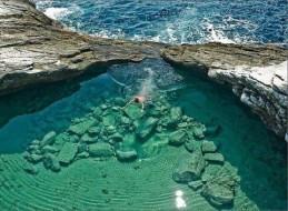 Lagon Giola, Thassos, Grèce