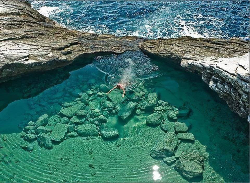 Le lagon de Giola sur l'île grecque de Thassos