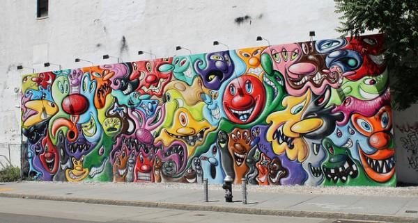 Kenny Scharf Bowery Wall