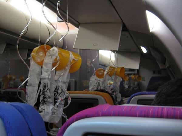 Masque oxygene avion