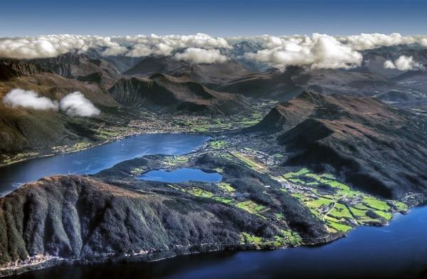 Norvège vue du ciel