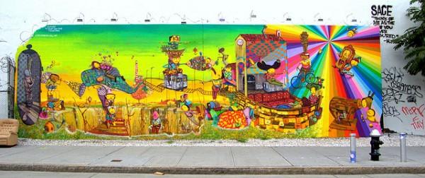 Os Gêmeos Bowery Wall