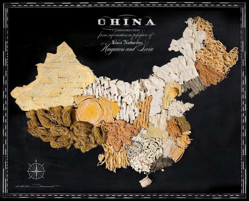 Carte de la Chine avec ses spécialités