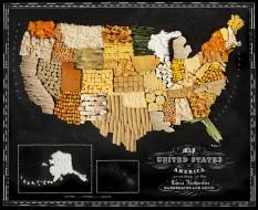 Carte des Etats-Unis avec ses spécialités