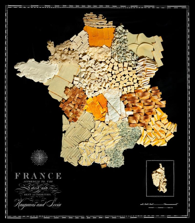 Carte de la France avec ses spécialités