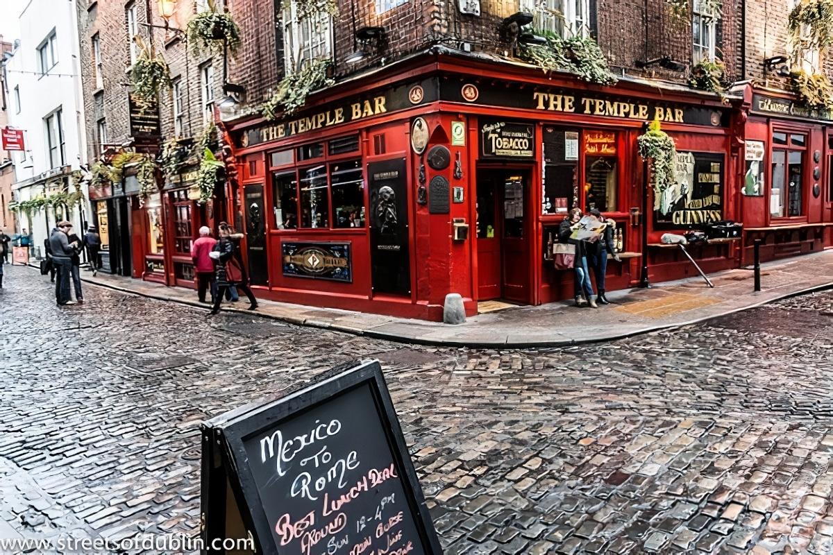 Le quartier de Temple Bar à Dublin