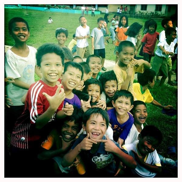Village Bohol enfants