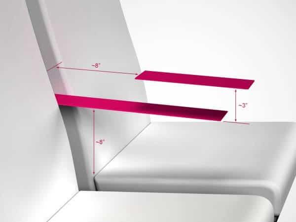 Accoudoir Paperclip Design avion