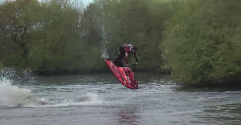 L'entrainement du champion du monde de jet ski