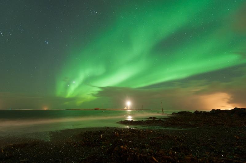 Aurore Boréale à Reykjavik