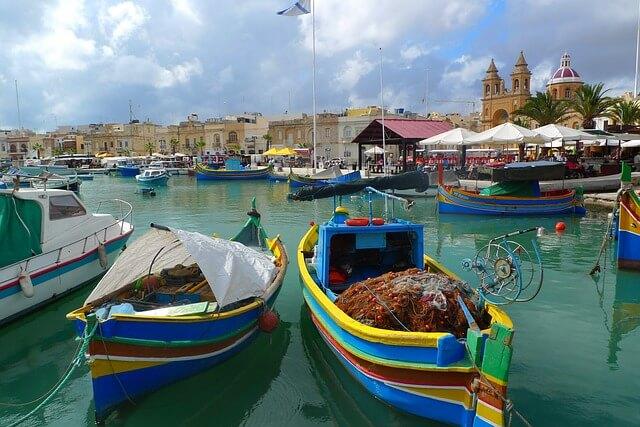 Bateaux Luzzu Luzzi Marsaxlokk Malte
