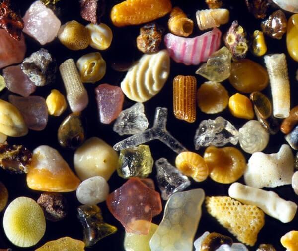 Grains de sable au microscope par Gary Greenberg