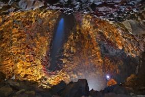 Intérieur du volcan Thrihnukagigur en Islande