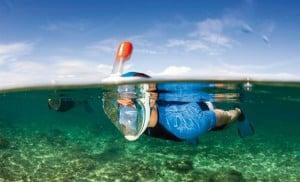 Masque Easybreath Tribord snorkeling