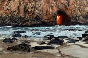 Pfeiffer Beach plage Californie