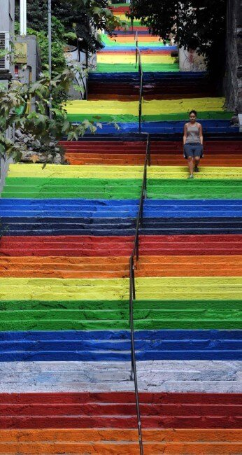 Les plus beaux escaliers au monde Street-art